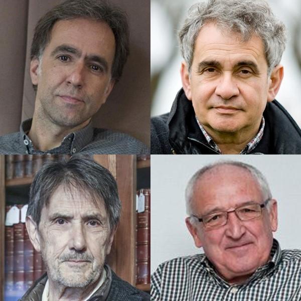 Harkaitz Cano, Bernardo Atxaga, Anjel Lertxundi eta Saizarbitoria